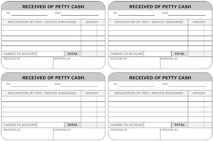 petty cash template free