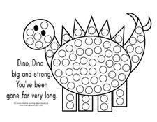 FREE bingo dot a dinosaur.
