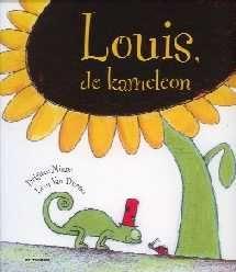 Louis, de kameleon - Brigitte Minne - De expressie van de dierensnuitjes is fenomenaal: de konijnen die genieten van haasje-over spelen, het varken dat geniet van een modderbad, de kikker die geniet van zijn sprong. Louis geniet op zijn beurt van elk dier en elke kleur.