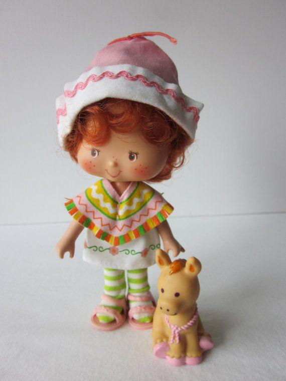 Vintage Strawberry Shortcake Cafe Ole Doll and Pet Burrito