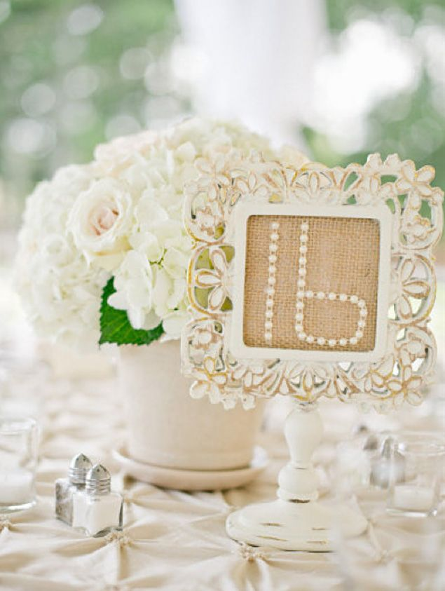Shabby Chic Wedding Table Numbers - PHOTO SOURCE • HARWELL PHOTOGRAPHY