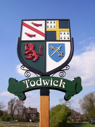 Good to note, its not just british royalty that have crests like this. Local country pubs and middle class families have crests too.