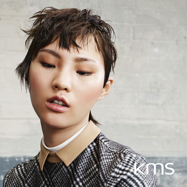Get inspired by Xinji's HIGHstyle look created with KMS products organized intuitively into START. STYLE. FINISH. #kmshair #stylematters #kmsinspiration #hairstyling #stylist #styling #hairdresser #look