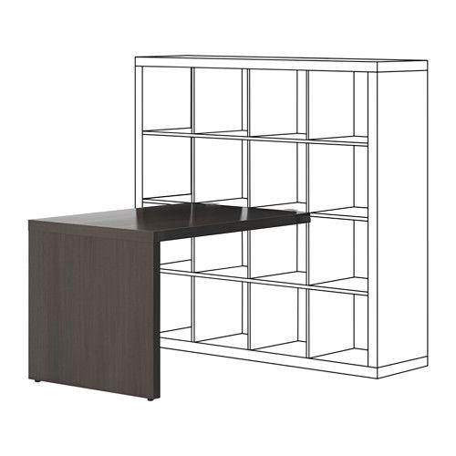 KALLAX Bureau - wit 115x76 cm | Ikea kallax desk, Home ...