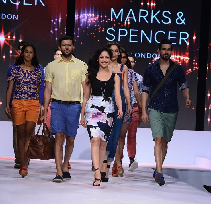 Marks & Spencer showcases its Spring Summer'15, Yami Gautam, Marks & Spencer, Bollywood star Yami Gautam, Spring Summer'15, getmovieinfo, fashion show #MarkandSpencer #YamiGautam #SpringSummer15