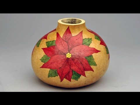 The Easy Way to Create a Stunning Poinsettia Gourd Pot by Christy Barajas