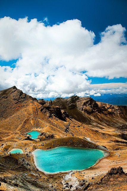 Emerald Lakes ~ Tongariro National Park, New Zealand