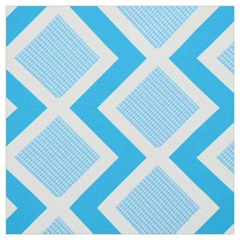 Blue and White Argyle Print Chevron Fabric #chevron #craft #supplies