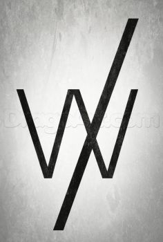 How to draw sleeping with sirens logo. Well draw a 'W' with a slash [/] over it. Done.