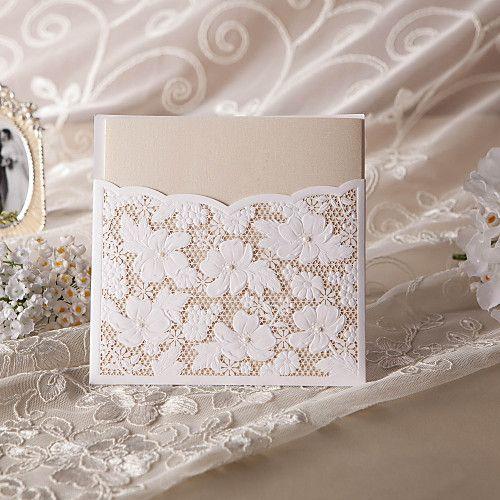 "Embrulhado e de Bolso Convites de casamento 50-Cartões de convite Estilo Flôr Papel Acetinado 6""×6"" (15*15cm) de 2017 por $89.99"