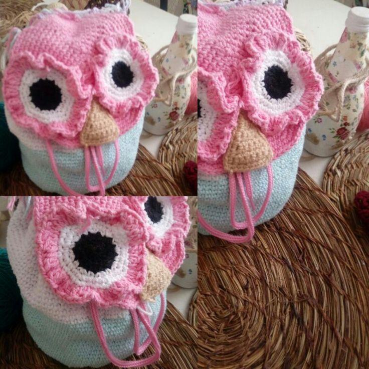 Bolsito búho crochet