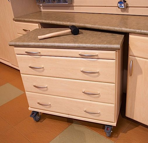 High Quality Below The Counter Pull Out #Island On Wheels With #Drawers And #Countertop