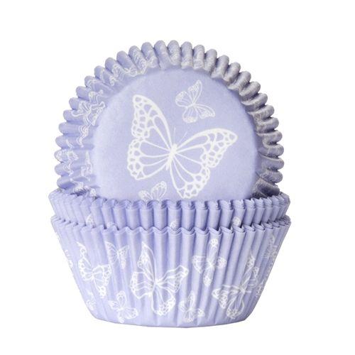Baking Cups van House of Marie met een mooi design, vlinder lila, geven jou cupcakes een bijzondere uitstraling.