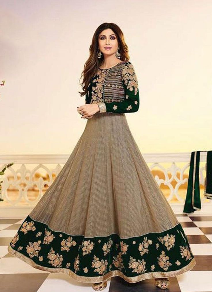 Stunning Green Embroidered Salwar Kameez - shopneez.com