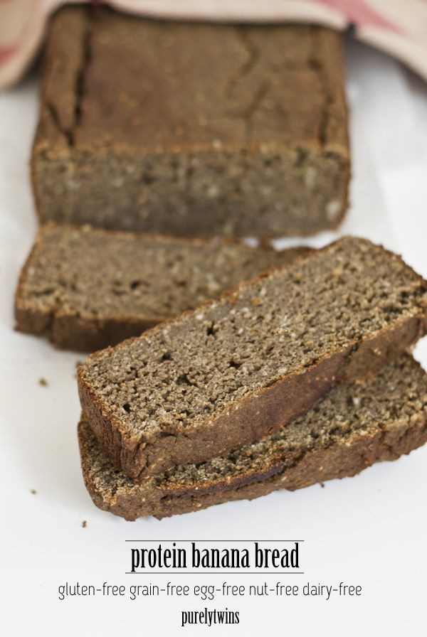 We grew up with banana bread. Our mom would make it often as an afternoon snack. We now have our version of protein banana bread using some plantains too. This banana bread will become a household favorite. It is gluten and grain-free and can be made without eggs.