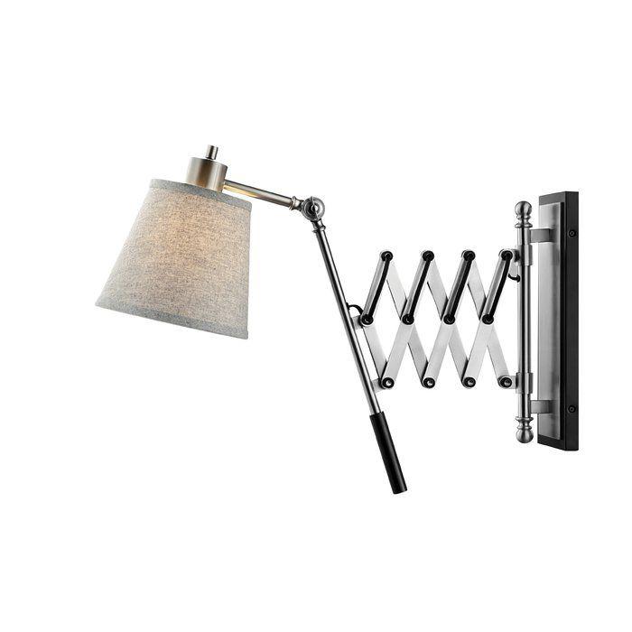 Wilburn Plug In Swing Arm Lamp Adjustable Wall Lamp Metal Wall Light Swing Arm Lamp