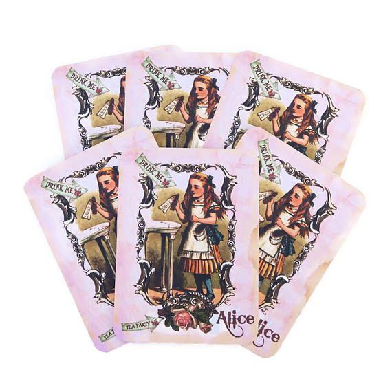 Note Cards Alice in Wonderland Birthday-White Rabbit Tea