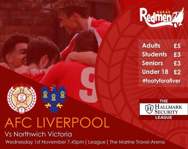 This Wednesday @northwich_victoria_fc at home  #Footyforafiver  #NonLeague #Liverpool