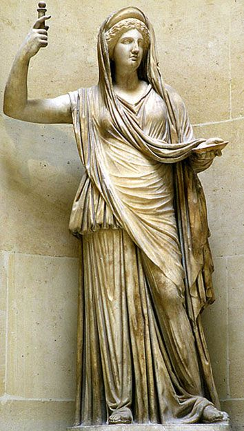Juno is an ancient Roman goddess (equivalent to Hera in Greek mythology), the protector and special counselor of the state. She is a daughter of Saturn and sister (but also the wife) of the chief god Jupiter and the mother of Mars and Vulcan.