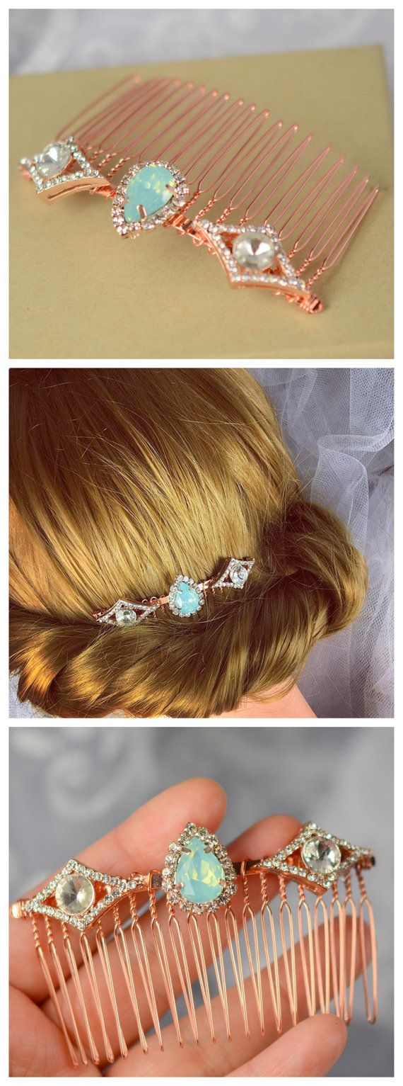 Butterfly hair accessories for weddings uk - Rose Gold Hair Comb Rose Gold Vintage Style Bridal Air Comb Wedding Hair Comb