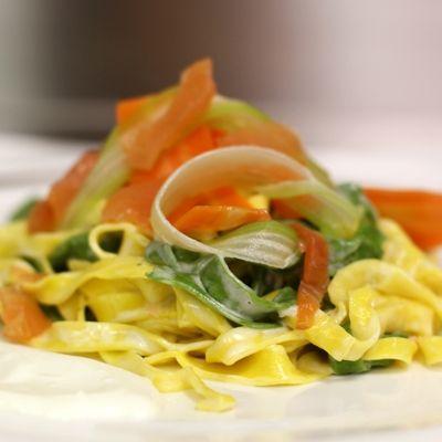 Salsa al salmone affumicato mascarpone ed erba cipollina