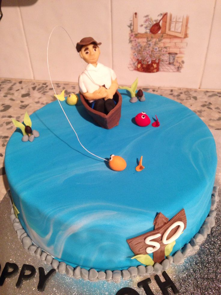 50th fishing cake