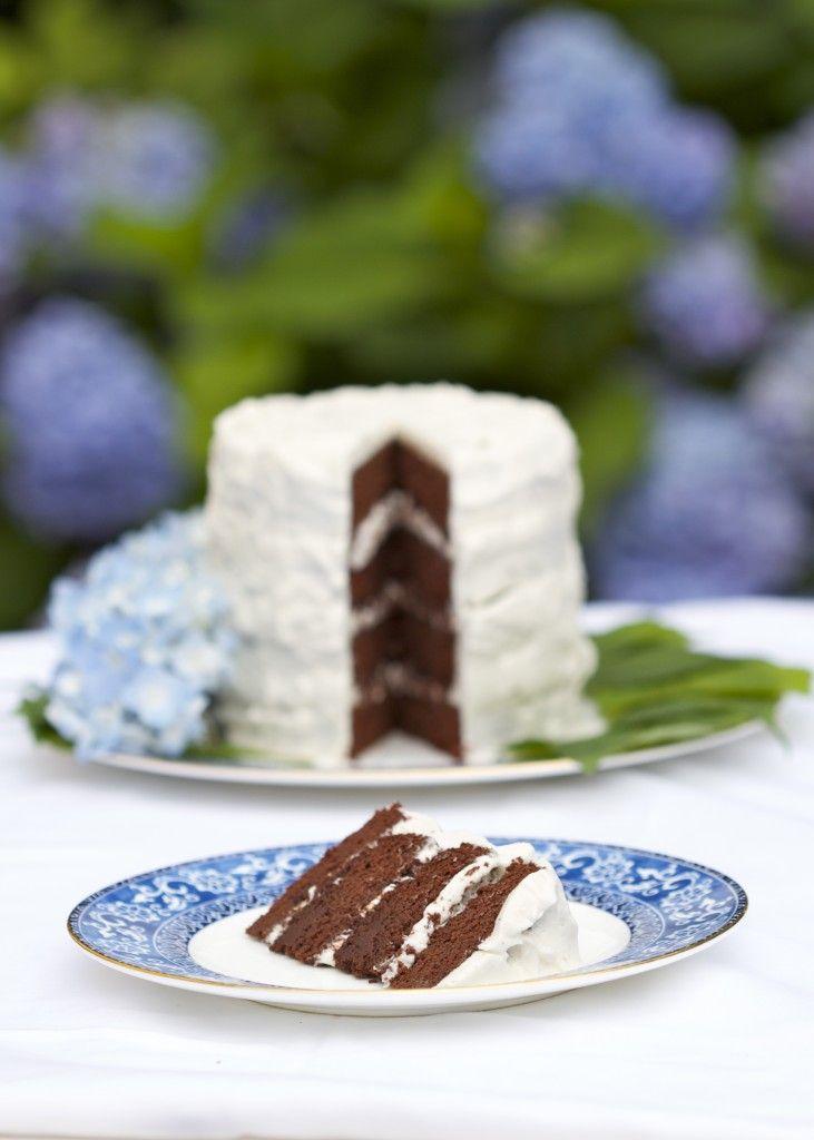four-layer paleo chocolate cake (grain free, gluten free, dairy free, nut free)