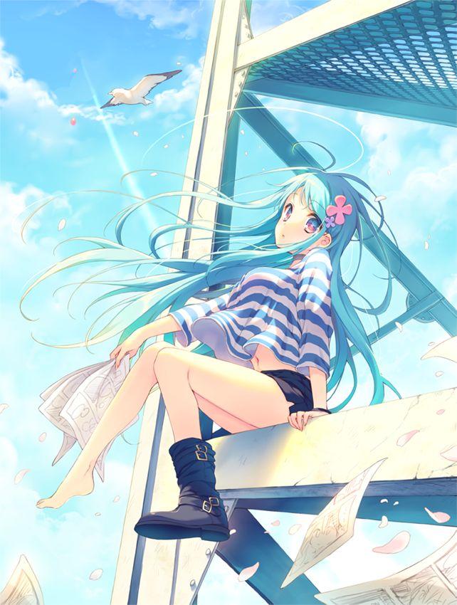 68 best anime beach girls images on pinterest anime - Beach anime girl ...