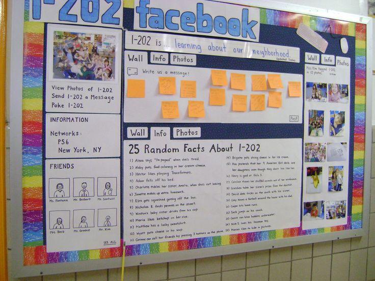 Build a bulletin board facebook account.
