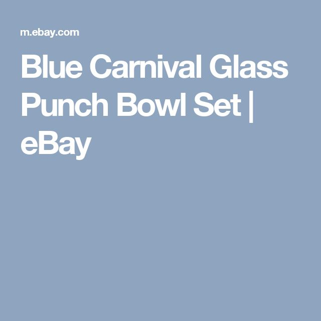 Blue Carnival Glass Punch Bowl Set | eBay
