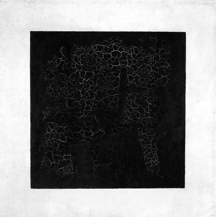 'To the Suprematist the visual phenomena of the objective world are, in themselves, meaningless; the significant thing is feeling'.  Kazimir Malevich, Black Square (fig.1). 1915.