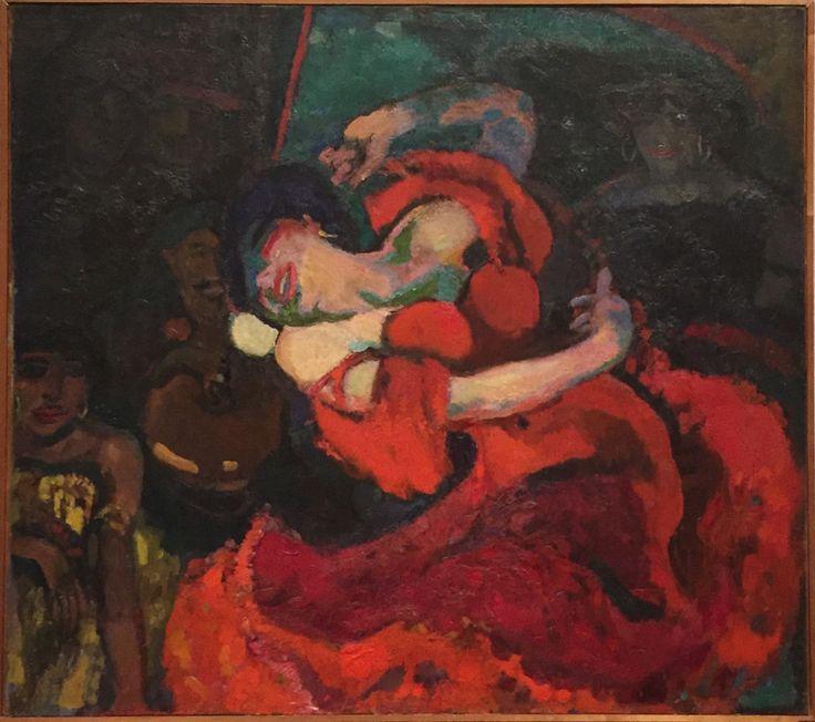 Spaanse danseres, 1906, Jan Sluijters, olieverf op doek     Tijdelijke expositie  Stedelijk Museum Alkmaar   van 18/2  tot  20/8 2017