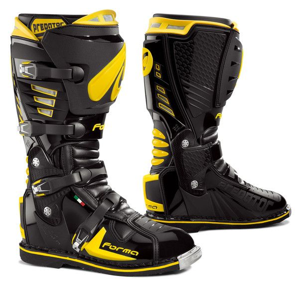 Forma Predator motocross motorcycle boots Black Yellow – Forma Boots