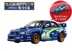 アシェットコレクションズジャパンから世界を制覇したワールドラリーカー スバル インプレッサ WRC2003を組み立てるコレクション週刊スバル インプレッサをつくるの先行予約が始まりました 2003年モデルなのでモンテカルロ戦仕様のマシンになります 1/8スケールならではの精密設計です 定期購読を申し込むと1/43スケールモデルと特製プレートセットと特製ディスプレイボードがもらえます