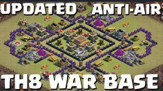 nice Clash of Clans - UPDATED Anti Air TH8 War Base with Replays  This is an updated version of a previous base here: https://www.youtube.com/watch?v=Q4OWpESiuoc Music by: Virtual Riot- Idols (EDM Mashup) Support...http://clashofclankings.com/clash-of-clans-updated-anti-air-th8-war-base-with-replays/