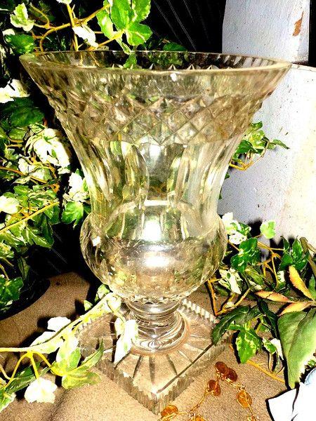 Vintage Kristall - 1900 KOSTBARE KRISTALLVASE BOEHMEN 2,3 KG.TOP - ein Designerstück von ausBoehmensHainundFlur bei DaWanda