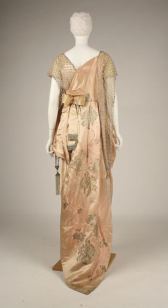 Evening dress, 1914, House of Worth, French, silk
