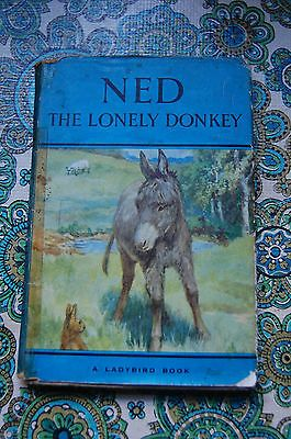 Ned the Lonely Donkey Vintage Ladybird Book with dust cover 497 series