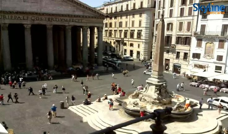 Live images from the Pantheon.