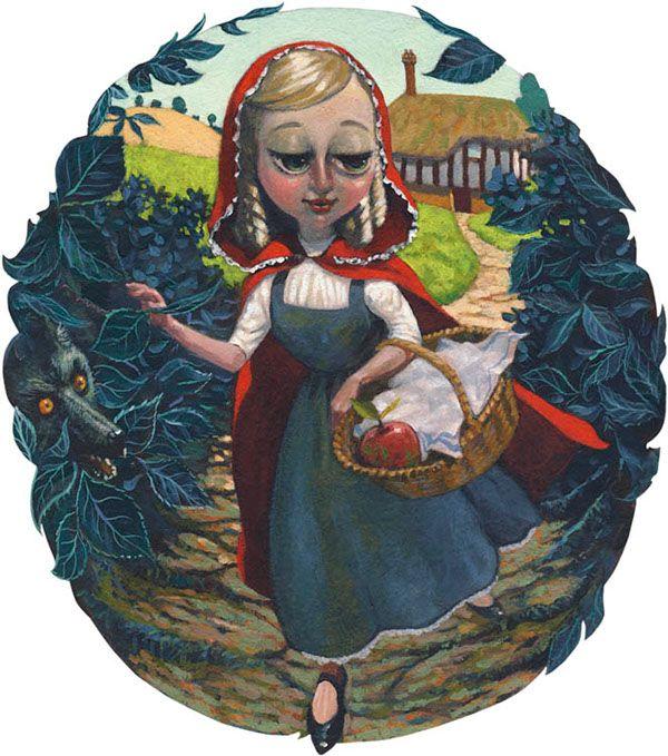 Little Red Ridinghood. Children's Book Illustration by Kevin McSherry, via Behance