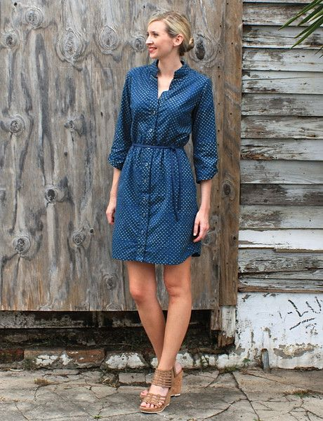 This super comfy and versatile button up shirt dress playfully features polka dots, and is perfect for the office or weekend relaxing. #EthicalFashion