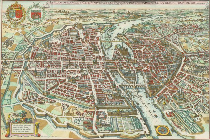 PARIS I Old Maps of Paris - Year 1615