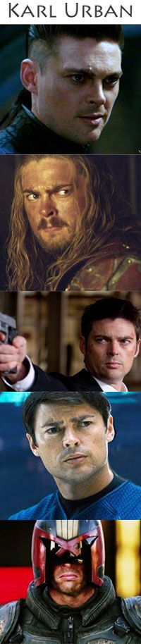 Chronicles of Riddick, The Lord of the Rings, RED, Star Trek, Dredd!