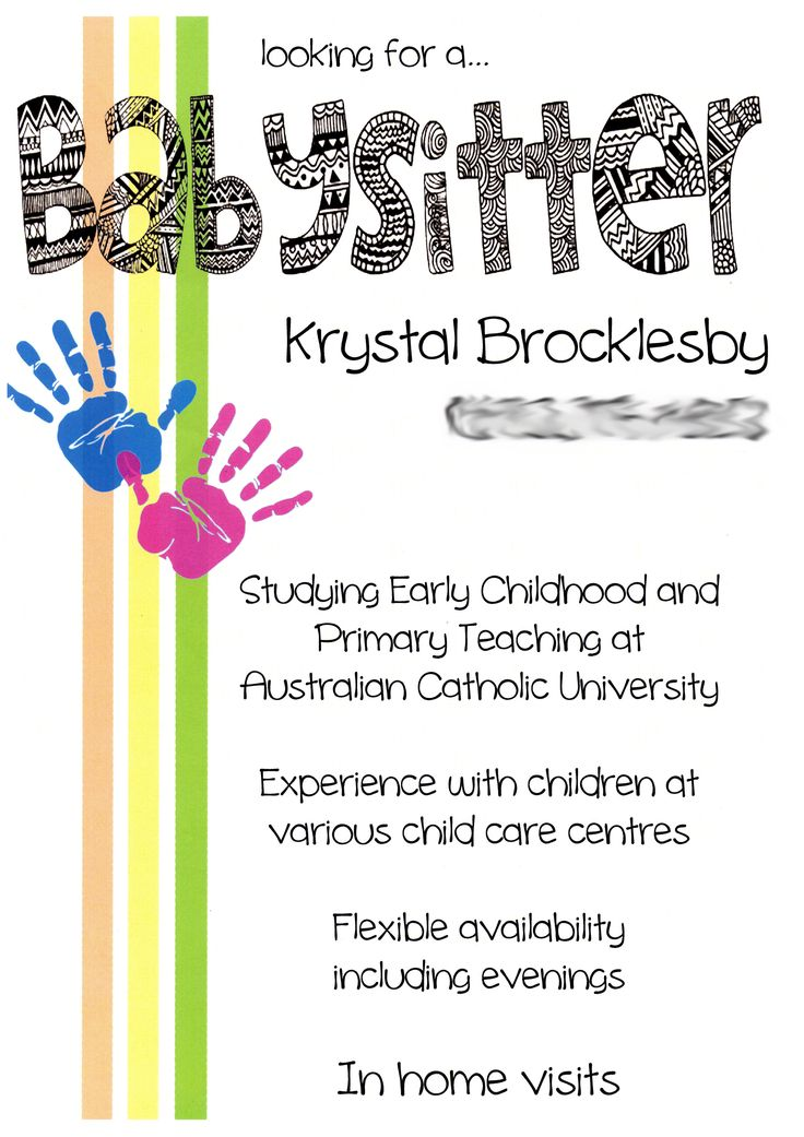 Best 25+ Babysitting flyers ideas on Pinterest Babysitting - baby sitter resume