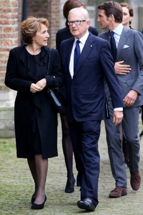 Dutch Princess Margriet and her husband Pieter van Vollenhoven arrive at the Old Church in Delft, The Netherlands, for the memorial of Prince Friso, 02.11.13.