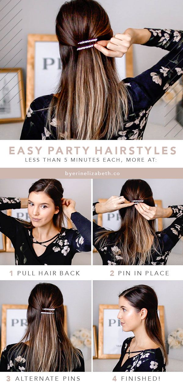 Easy Holiday Hairstyles For Medium Long Hair Hair Tutorial For Christmas Easy Hairstyles Hair Styles Medium Long Hair