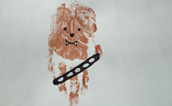 3 Star Wars Handprint Paintings for Younglings, kids crafts: