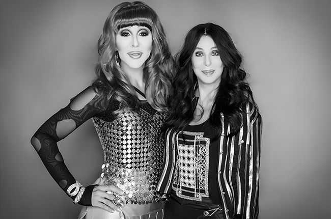 Chad Michaels as Cher with Cher