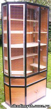 Клетки, витрины для шиншилл, дегу, вольеры для животных, клетки для птиц, террариумы, витрины для зоомагазинов.