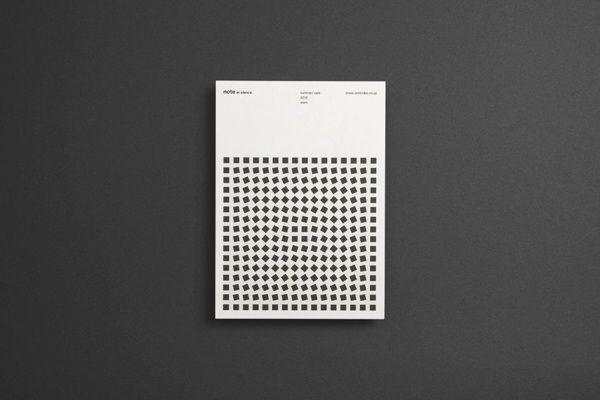 note et silence. postcard (2012-2013) by Makoto Kamimura, via Behance